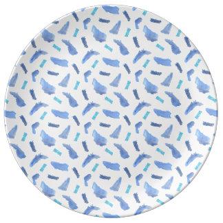 Blue Spots 10.75'' Decorative Porcelain Plate