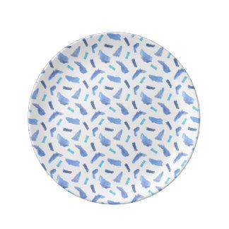 Blue Spots 8.5'' Decorative Porcelain Plate