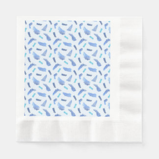 Blue Spots Coined Luncheon Paper Napkins
