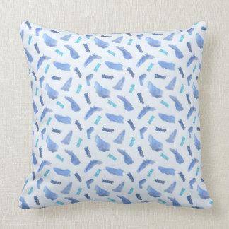 Blue Spots Polyester Throw Pillow 20'' x 20''