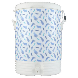 Blue Spots Ten Gallon Igloo Beverage Cooler