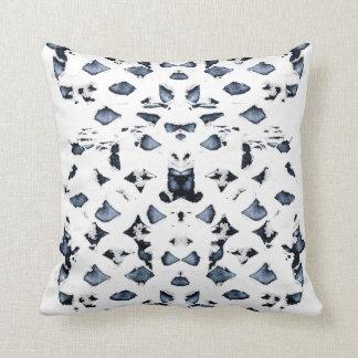 Blue Spots Throw Pillow