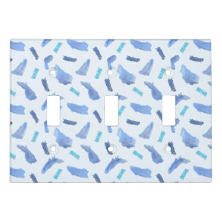Blue Spots Triple Toggle Light Switch Cover
