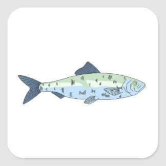 Blue Spotted Fish Sticker