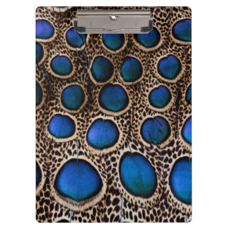 Blue spotted peacock pheasant clipboard