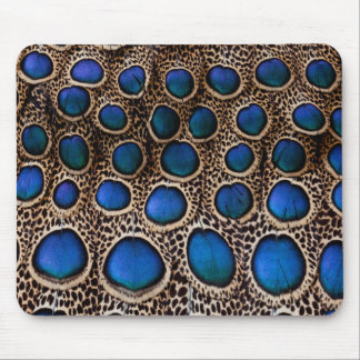Blue spotted peacock pheasant mouse pad