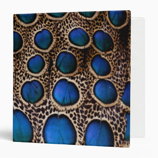 Blue spotted peacock pheasant vinyl binder