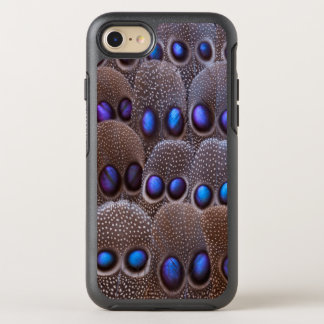 Blue spotted pheasant feather OtterBox symmetry iPhone 7 case