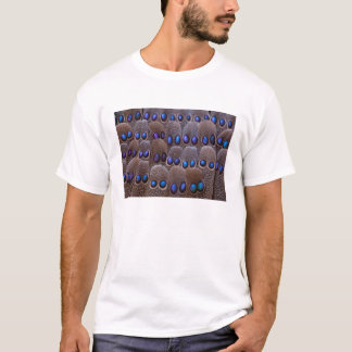 Blue spotted pheasant feather T-Shirt