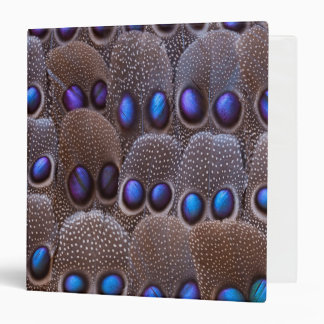 Blue spotted pheasant feather vinyl binders