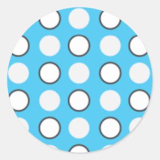 Blue spotted tie round sticker