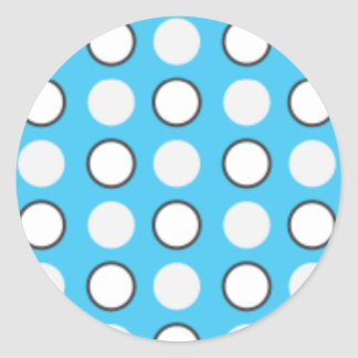 Blue spotted tie classic round sticker