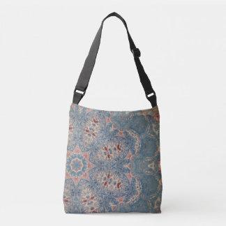 Blue spread crossbody bag