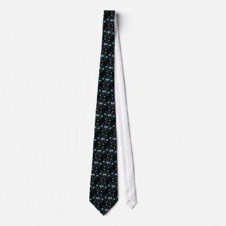 Blue Spring Flower Garden Tie