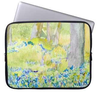 Blue Spring Flowers Laptop Case Laptop Sleeve