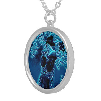 Blue Spring Silver Plated Necklace