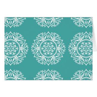 Blue Spruce Mandala Card