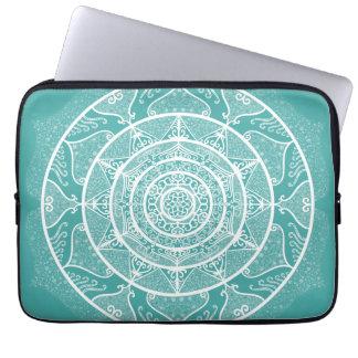Blue Spruce Mandala Laptop Sleeve