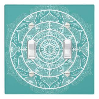 Blue Spruce Mandala Light Switch Cover