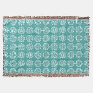 Blue Spruce Mandala Throw Blanket