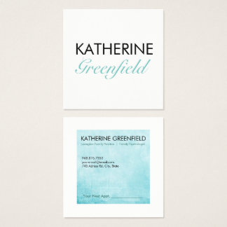 Blue Square Block Business/Appointment Card