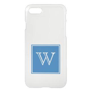 Blue Square Monogram iPhone 7 Case