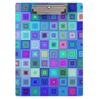 Blue square mosaic clipboard