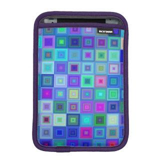 Blue square mosaic iPad mini sleeve