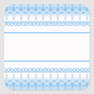 blue square sticker