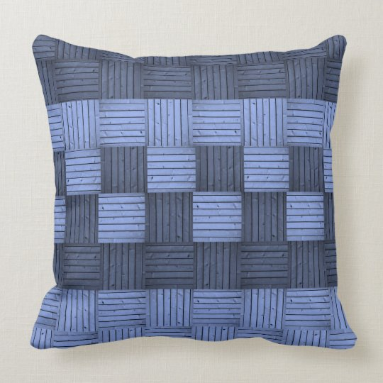 Blue Squares Abstract Pillow
