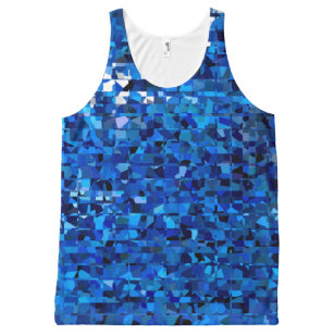 Blue Squares All-Over-Print Tank Top