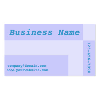 blue squares Double-Sided standard business cards (Pack of 100)