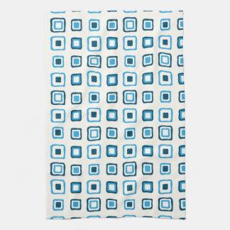Blue Squares in Blue Squares in Blue Squares Kitchen Towel