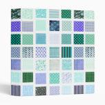 Blue squares mosaic pattern vinyl binders