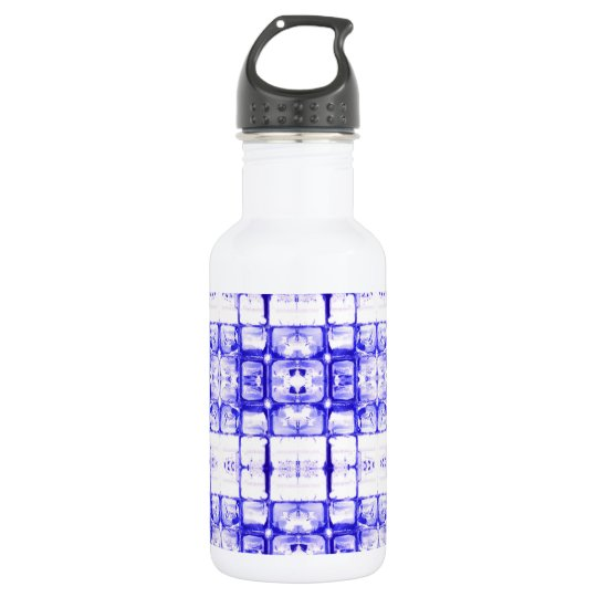 Blue Squares Water Bottle