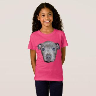 Blue Staffordshire Bull Terrier Puppy Face, T-Shirt