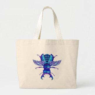 Blue Stag Beetle Large Tote Bag
