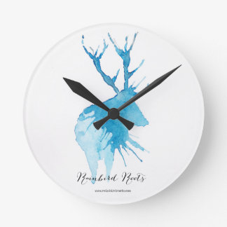 Blue Stag Clock
