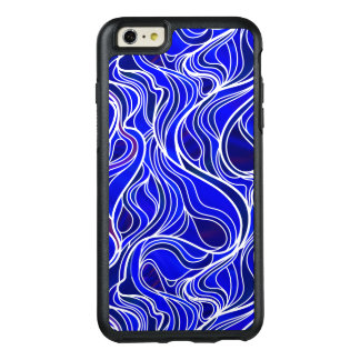 Blue Stained Glass Abstract OtterBox iPhone 6/6s Plus Case