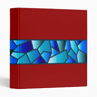 Blue Stained Glass Band Binder