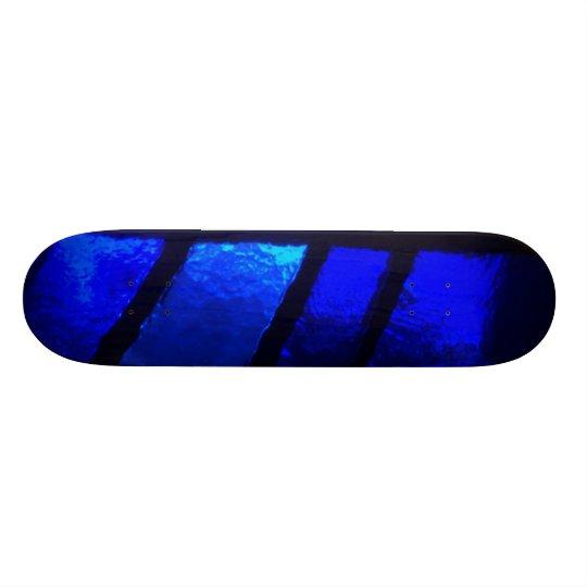Blue Stained Glass Skateboard Deck Art