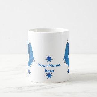 Blue Standing Dragon Mug - Customizable