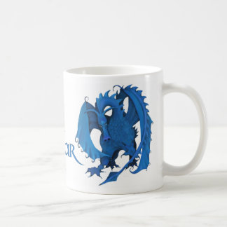 Blue Standing Dragon Mug - Oscar