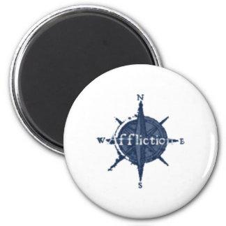 Blue Star Affliction 2 Inch Round Magnet