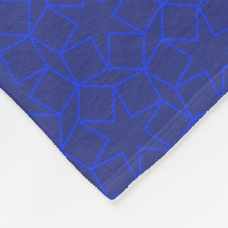 Blue Star Arabesque pattern Fleece Blanket