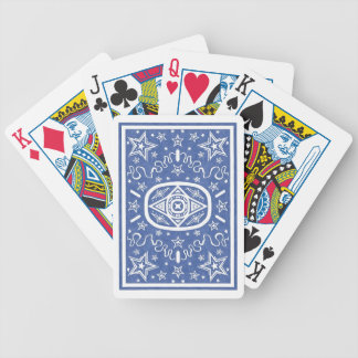 Blue Star Back Bicycle Cards