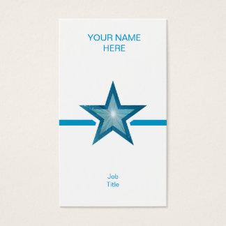 Blue Star blue line white vertical Business Card