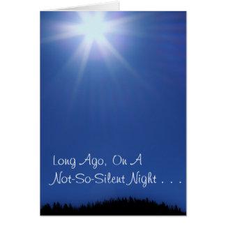 Blue Star Christmas Card, w/Scripture Card