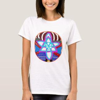 BLUE STAR Cosmic Healing  Reiki Karuna Symbol T-Shirt