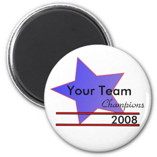 Blue Star Custom Team Champions Fridge Magnet